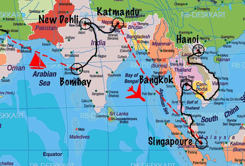 asie du sud est google map