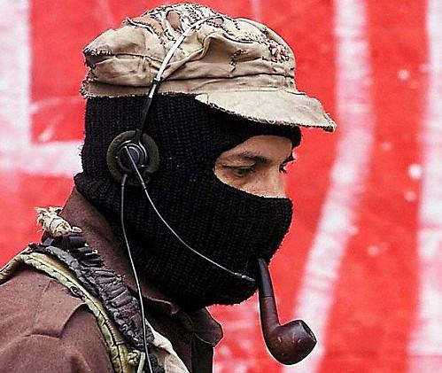 le sous-commandant Marco, leader et porte parole de l'EZLN - crédit photo: google.com