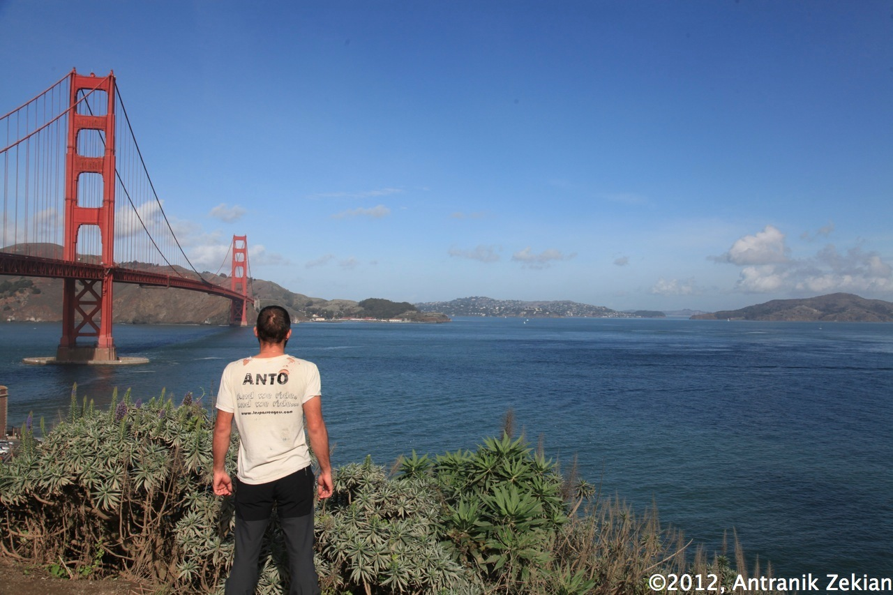 finally facing the Golden Gate, when an old dream becomes true...