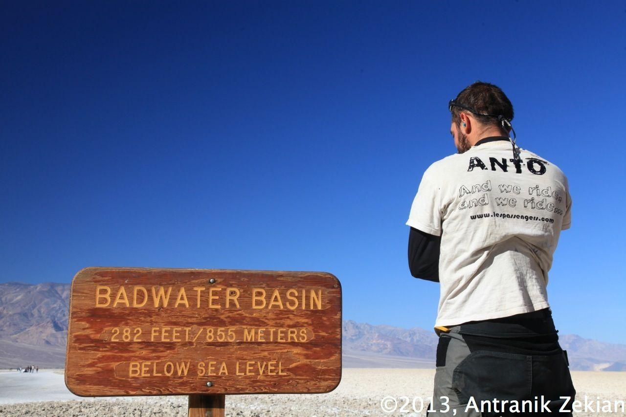 Badwater Bassin à 85.5m en dessous du niveau de la mer