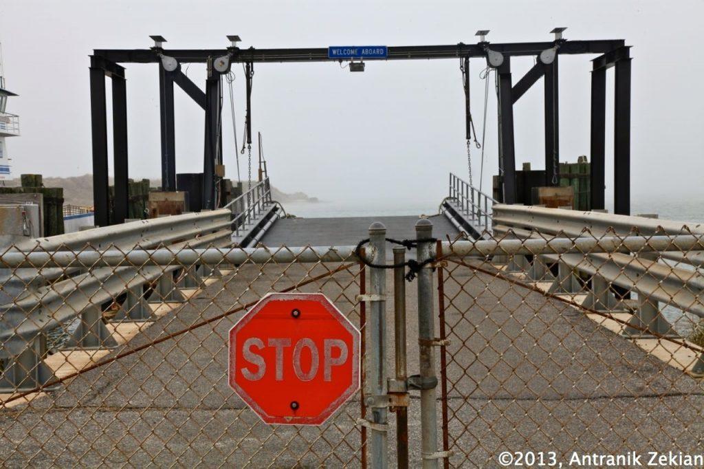 l'embarcadère des ferries à Ocracoke Island