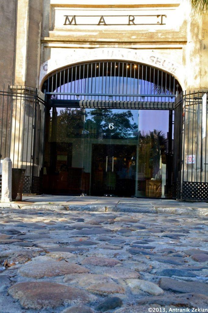 entrée de l'ancien marché aux esclaves de Chaleston