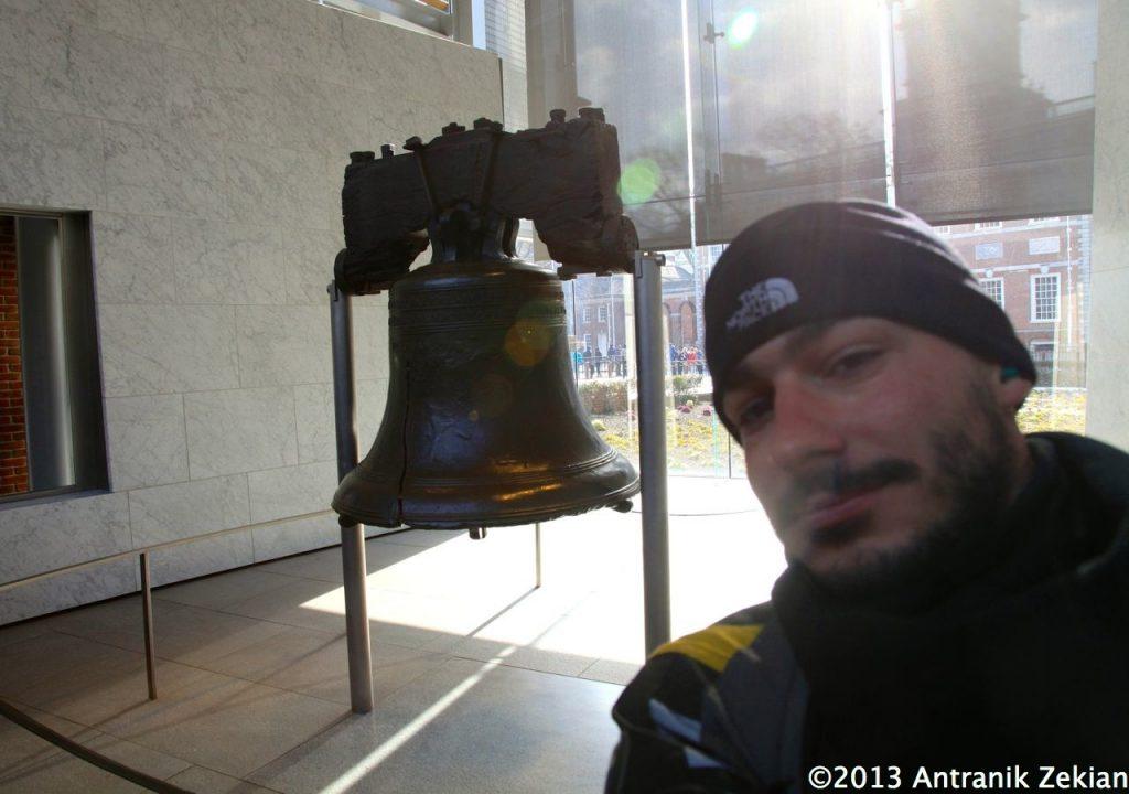 Et un petit selfie devant la Liberty Bell